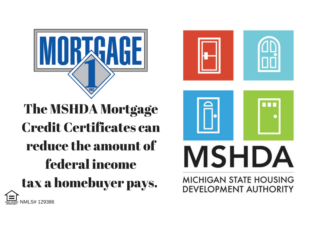 mshda federal tax credit up to 7500 to michigan home buyers mortgage 1 inc. Black Bedroom Furniture Sets. Home Design Ideas