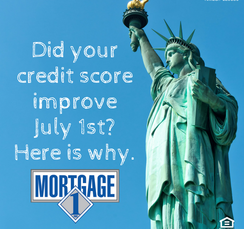 4Did your credit score improve July 1st?
