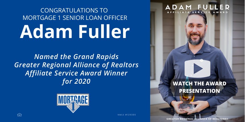 ADam Fuller GRAR Affiliate Service Award Winner 2020