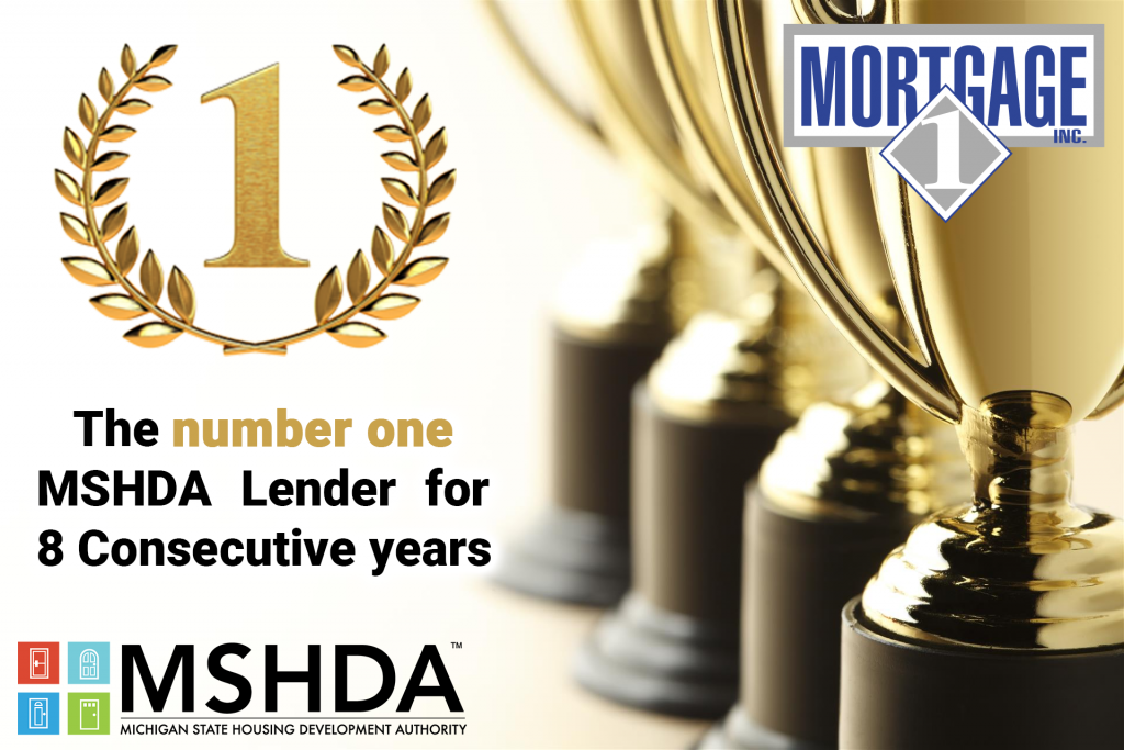 Mortgage 1 named top MSHDA lender in 2020 for the eighth consecutive year.