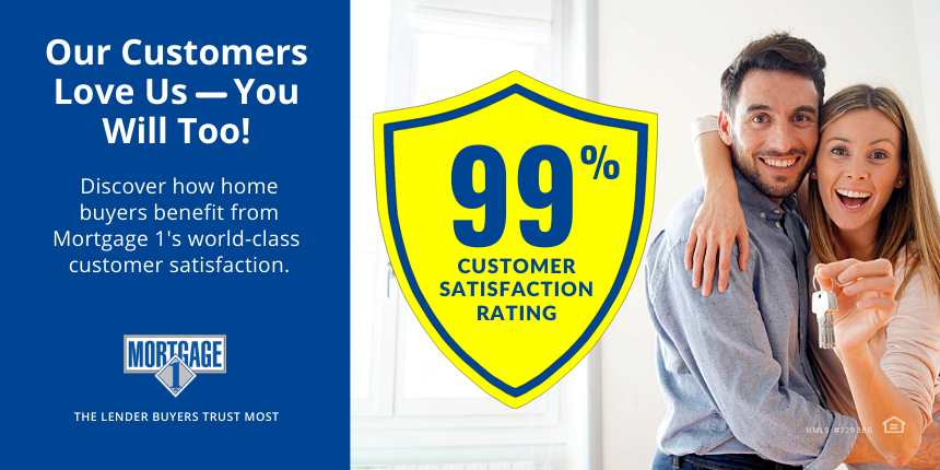 mORTGAGE 1 PROVIDES WORLD-CLASS CUSTOMER SATISFACTION.